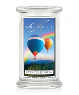 Kringle Candle - Over The Rainbow - Świeca Zapachowa Duża 2 Knoty