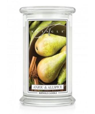 Kringle Candle - Anjou & Allspice - Świeca Zapachowa Duża 2 Knoty