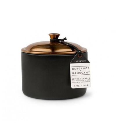 Paddywax - Bergamot & Mahogany - Hygge - Świeca Zapachowa Sojowa Mała