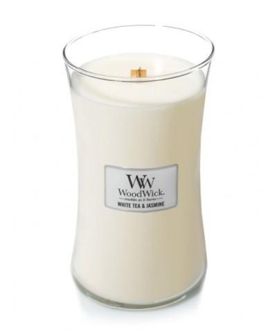 Woodwick - White Tea & Jasmine - Biała Herbata i Jaśmin - Świeca Zapachowa Duża Core