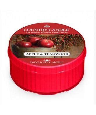 Country Candle - Apple & Teakwood - Jabłko i Drewno Tekowe - Daylight