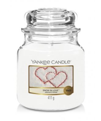 Yankee Candle - Snow In Love - Śniegowa Miłość - Świeca Zapachowa Średnia