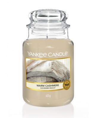 Yankee Candle - Warm Cashmere - Świeca Zapachowa Duża - Ciepły Kaszmir