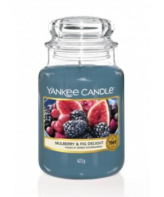 Yankee Candle - Świeca Duża - Mulberry & Fig Delight - Rozkoszna Morwa i Figa