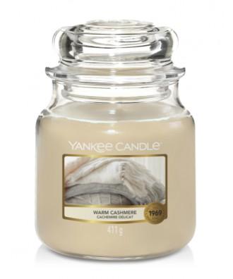 Yankee Candle - Warm Cashmere - Świeca Zapachowa Średnia - Ciepły Kaszmir