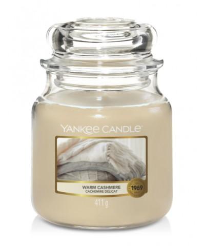 Yankee Candle - Świeca Średnia - Warm Cashmere - Ciepły Kaszmir