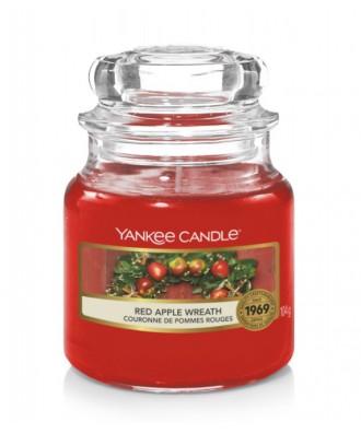 Yankee Candle - Red Apple Wreath - Świeca Zapachowa Mała - Świąteczny Stroik