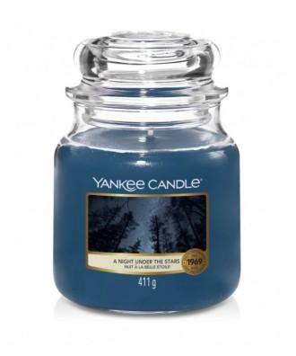 Yankee Candle - A Night Under The Stars - Świeca Zapachowa Średnia - Noc Pod Gwiazdami