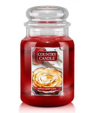 Country Candle - Apple Cider Cake - Świeca Zapachowa Duża 2 Knoty