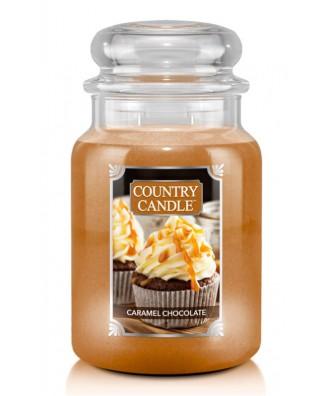 Country Candle - Caramel Chocolate - Świeca Zapachowa Duża 2 Knoty
