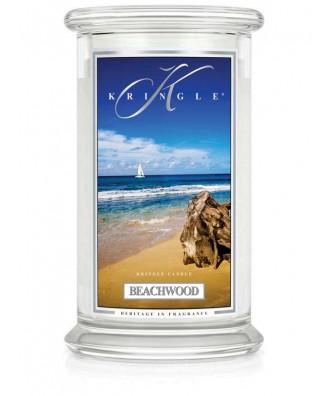 Kringle Candle - Beachwood - Drewno z Plaży - Świeca Zapachowa Duża 2 Knoty
