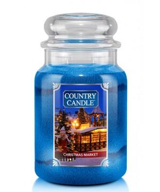 Country Candle - Christmas Market - Świeca Zapachowa Duża 2 Knoty