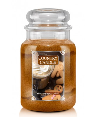 Country Candle - Gingerbread Latte - Świeca Zapachowa Duża 2 Knoty