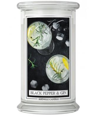 Kringle Candle - Black Pepper Gin - Świeca Zapachowa Duża 2 Knoty