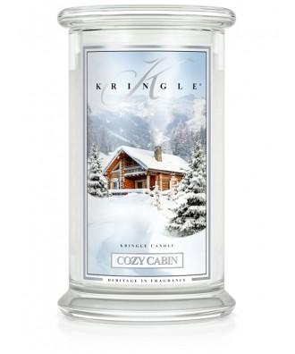 Kringle Candle - Cozy Cabin - Przytulna Chatka - Świeca Zapachowa Duża 2 Knoty