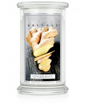 Kringle Candle - Ginger Root - Korzeń Imbiru - Świeca Zapachowa Duża 2 Knoty