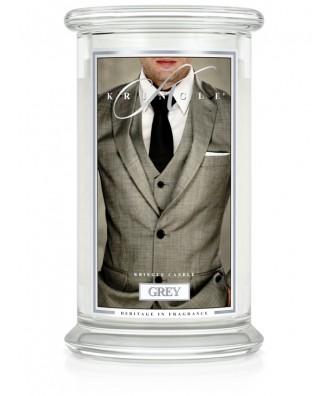 Kringle Candle - Grey - Przystojniak - Świeca Zapachowa Duża 2 Knoty