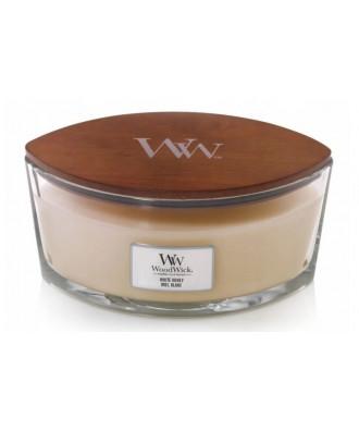 Woodwick - White Honey - Świeca Zapachowa Elipsa Hearthwick Flame