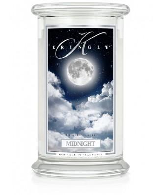 Kringle Candle - Midnight - Północ - Świeca Zapachowa Duża 2 Knoty
