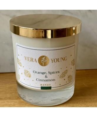 Vera Young - Orange, Spices and Cinnamon - Dandy - Świeca Sojowa Zapachowa