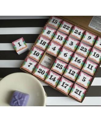 Aggy's Handicrafts - Kalendarz adwentowy EKO z woskami sojowymi