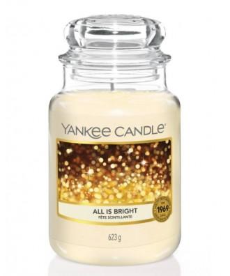 Yankee Candle - All Is Bright - Świeca Zapachowa Duża - Świąteczne Iskierki