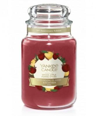Yankee Candle - Spiced Apple - Świeca Zapachowa Duża - Jabłko z przyprawami