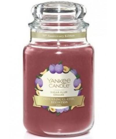 Yankee Candle - Sugar Plum - Świeca Zapachowa Duża - Słodzona Śliwka