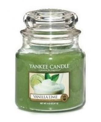 Yankee Candle - Vanilla Lime - Świeca Zapachowa Średnia - Wanilia i Limonka