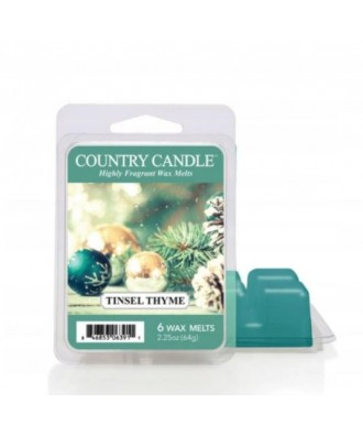 Country Candle - Tinsel Thyme - Wosk Zapachowy