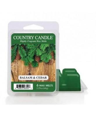 Country Candle - Balsam & Cedar - Wosk Zapachowy
