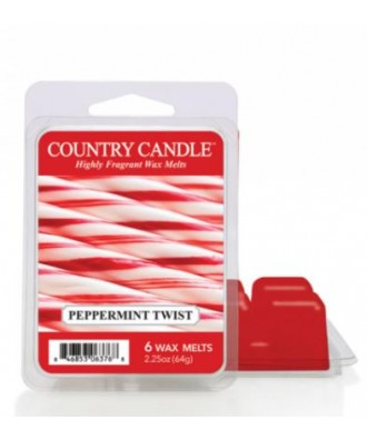 Country Candle - Peppermint Twist - Wosk Zapachowy