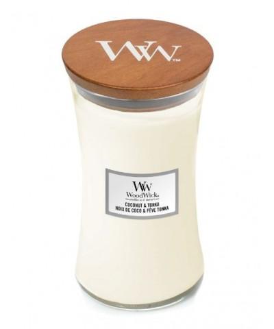 Woodwick - Coconut & Tonka - Świeca Zapachowa Duża