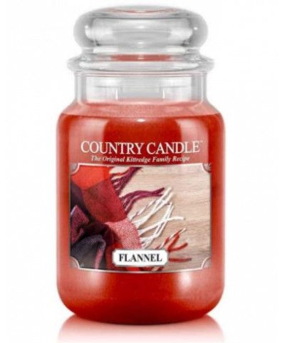 Country Candle - Flannel - Świeca Zapachowa Duża