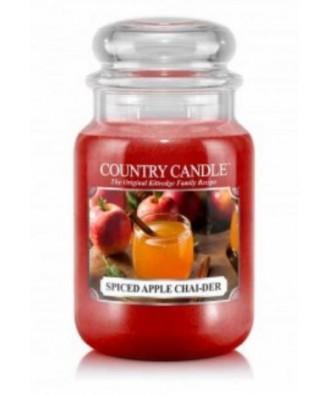 Country Candle - Spiced Apple Chai-der - Świeca Zapachowa Duża