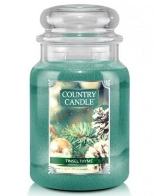 Country Candle - Tinsel Thyme - Świeca Zapachowa Duża