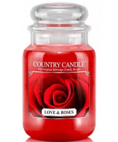 Country Candle - Love & Roses - Świeca Zapachowa Duża