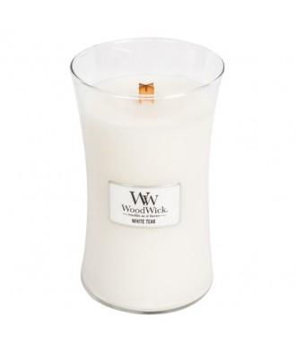 Woodwick - White Teak - Świeca Zapachowa Duża Core