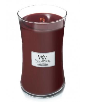 Woodwick - Black Cherry - Świeca Zapachowa Duża Core