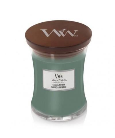 Woodwick - Sage & Myrrh - Świeca Zapachowa Mała Core