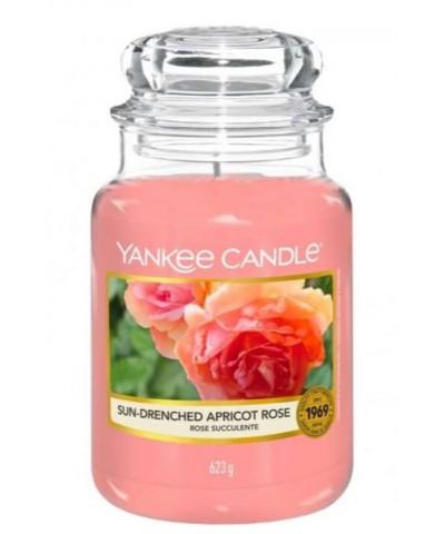 Yankee Candle - Sun - Drenched Apricot Rose - Dojrzewająca w Słońcu Morelowa Róża - Świeca Zapachowa Duża