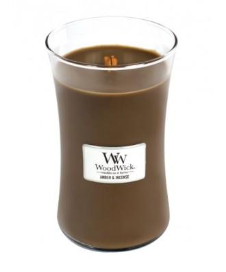 Woodwick - Amber & Incense - Świeca Zapachowa Duża Core