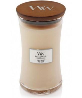 Woodwick - White Honey - Świeca Zapachowa Duża Core