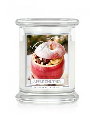 Kringle Candle - Apple Chutney - Sos Jabłkowo Goździkowy - Świeca Zapachowa Średnia 2 Knoty