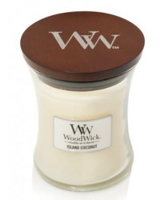 Woodwick - Island Coconut - Świeca Zapachowa Core Średnia