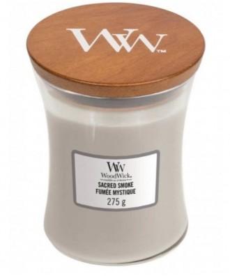 Woodwick - Sacred Smoke - Świeca Zapachowa Średnia Core