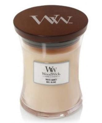 Woodwick - White Honey - Świeca Zapachowa Średnia Core