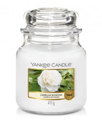 Yankee Candle - Camellia Blossom - Świeca Zapachowa Średnia