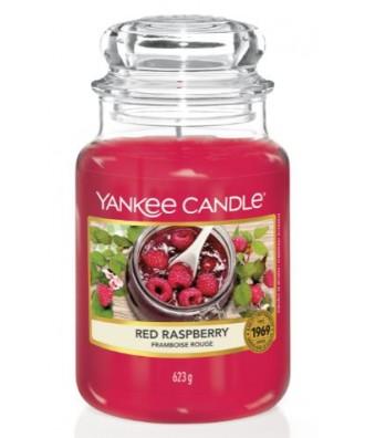 Yankee Candle - Red Raspberry - Czerwona Malina - Świeca Zapachowa Duża