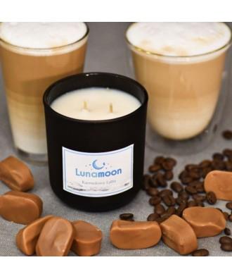 Lunamoon - Karmelowe Latte - Świeca Zapachowa Sojowa Mała